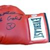 Autographed Sugar Ray Leonard  Red Everlast Boxing Glove