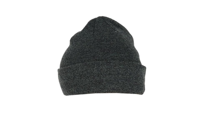 Women's Casual Adjustable Cuff Foldable Brim Woollen Hat - Black / One Size