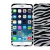 """Insten Zebra Hard Rubber Case For Iphone 6 Plus 5.5"""" White/black"""