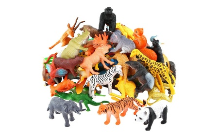 Animals Figure 54 Piece Mini Jungle Animals Toys 0d55cb0b-55ef-41a5-80ff-c972983ee924