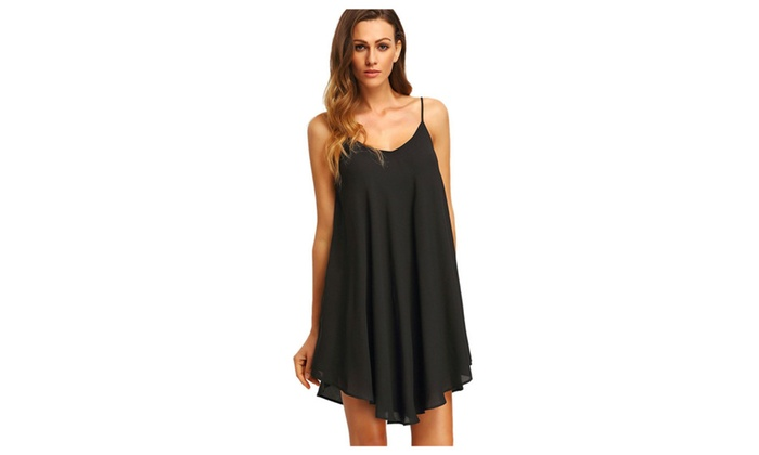 Halo Polo: Strap Sundress Sleeveless Beach Slip Dress