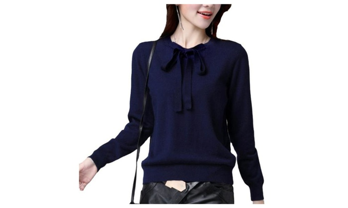 Women's Regular Fit Straight Hem Casual Pullovers