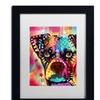 Dean Russo 'Boxer Cubism' Matted Black Framed Art