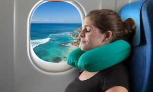 Memory Foam Travel Pillow- Round U-Shaped Neck/Head Support with Pillowcase