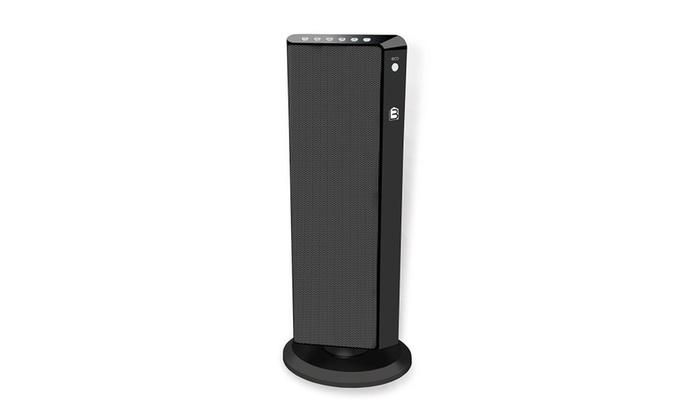 Living Basix LB5320 Flat Panel Tower Portable Space Heater, Black