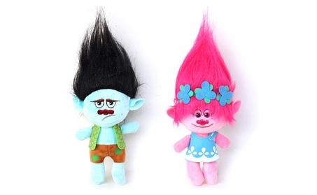 2 Pcs Kids Child Poppy Trolls Toys Action Figure Branch Anime Figurine