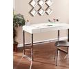 Vivienne Reptile Contemporary Desk - Cream
