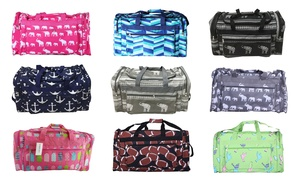 """22"""" Duffel Bag with 3 Zippered Pockets"""