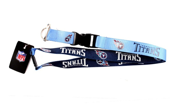 NFL Reversible Lanyard Keychain Id Ticket Holder