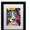 Dean Russo 'Sheltie' Matted Black Framed Art