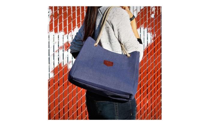 Stylish Shoulder Bag Sport Handbag Messenger Large Tote Canvas