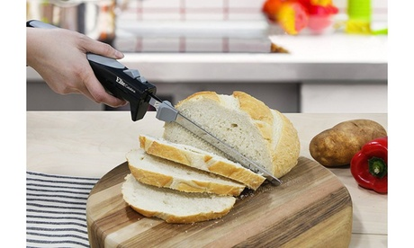 Elite Cuisine Electric Knife with two serrated stainless steel blades 8d983804-9d0a-4f89-80ce-0f40cd257f0b