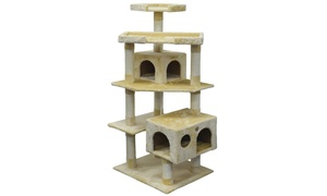 "GoPetClub 61"" Cat Tree Condo Scratcher Post Pet Bed Furniture"