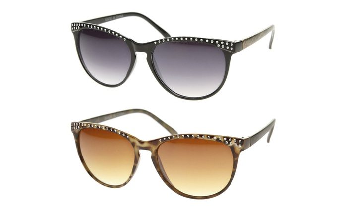 MLC Eyewear Retro Fashion Cat Eye Metal Accent Sunglasses S61NGW3143
