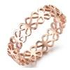 Elegant Stainless Steel Four-leaf Clover Ring For Women