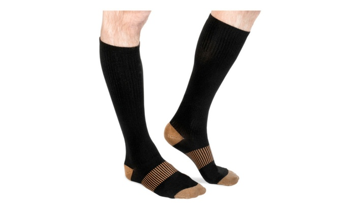 Women's Long Copper-Infused Compression Socks
