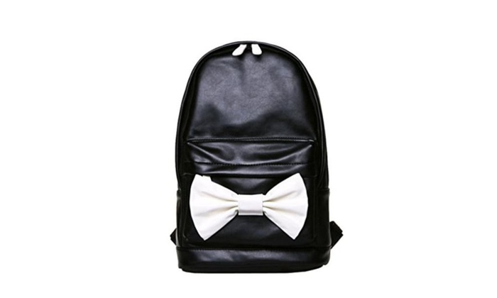 Gumstyle® Lovely Big Bowknot Sweet Style Leather Backpack for Student