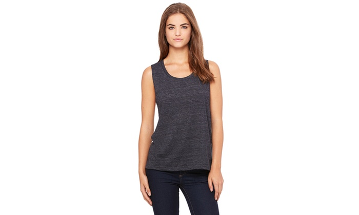 Bella Womens Flowy Scoop Muscle Tank BL8803-2