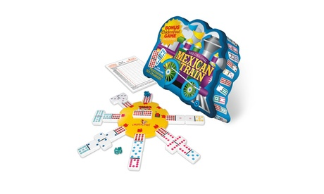Mexican Train Deluxe Traditional Double 12 Domino Set with Dots cbfb70c6-6055-4b6f-9fa0-a8faa27d153e