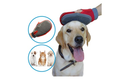 Pet Hair Remover Tool Massage Rubber Glove 2 in 1 for Dogs Cats Horses e5e03222-33bf-49d8-be2a-a2e954965b5a