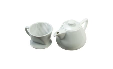 Coffee Maker - Drip with Pot White Porcelain 19oz. 8559 cf36e933-6fab-464a-ad62-4faab7b58ffc