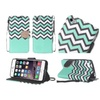 Insten Leather Fabric Case /stand For Iphone 6 Plus/6s Plus Blue/white