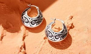 Handcrafted Sterling Silver Hoop Earrings by Verona