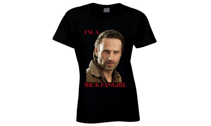 fishmimi: I'm a Rick Fangirl Men'sFitted T-Shirt Andrew Lincoln Walking Dead