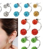 Swarovski Elements Crystal Ball Double-Sided Earrings Gifts