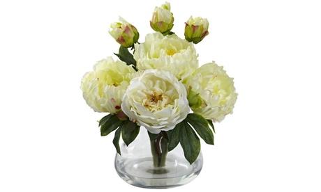 Nearly Natural Peony & Rose w/Vase White e3863695-67d3-497f-8179-848c0fec5ce9