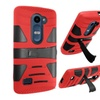 Insten Hard Hybrid Case For Lg Leon/power/sunset/tribute 2 Red/black
