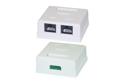 Cable Wholesale Cat6 Dual Jack Surface Mount Box, Female, Unshielded 690c4c5d-d47b-4277-a4cd-d09106dee00b