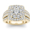 10k Yellow Gold 2ct TDW Halo Diamond Bridal Ring (H-I, I2)