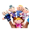 6Pcs Family Members Finger Puppets Baby Early Educational Plush Toys