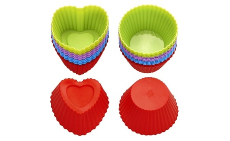 Silicone Baking Cups, Cupcake Liners, Muffin Cup (Set of 24, Round) 3f882bab-ab92-4244-9da0-417dcd87e40b