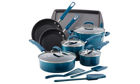 Rachael Ray 14pc. Cookware Set, Marine Blue 3c0b9306-063e-458a-97d7-1ba7dfb20719