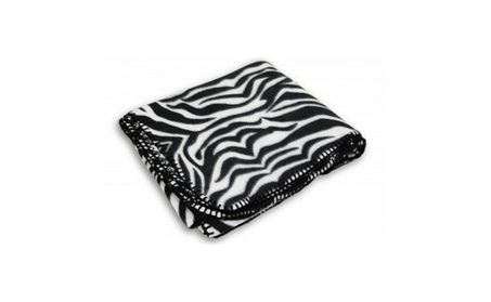 Zebra Printed Fleece Throw Blanket 7078dac7-4414-4f92-9499-fad74e28a810