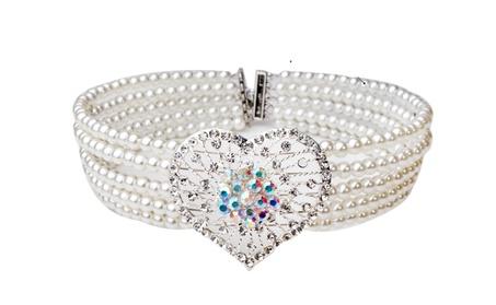 Trendy Rhinestone Heart Simulated Pearl Choker Necklace e40d4861-23f0-4533-a194-94f76de55aee