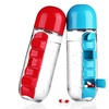 BPA-Free Water Bottle with Attachable 7-Day Pill Dispenser