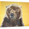 Brown Bear Animal Metal Wall Art 28x12