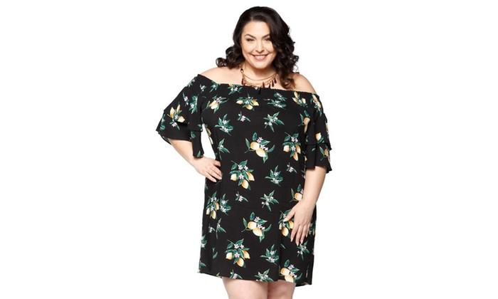 550c9cda0a5 ... free shipping b4bbf 586fc Xehar Womens Plus Size Casual Off Shoulder  Floral Summer Short Dress .