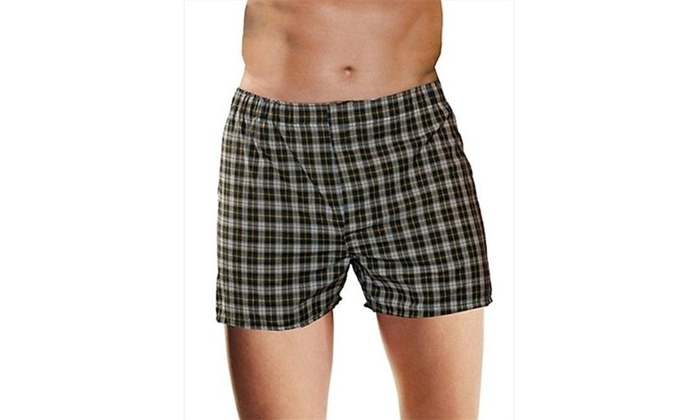 f09f53a4ab28 Hanes HN155W Mens Tagless Woven Boxers With Comfort Flex Waistband Size 4  XL 4XL Other Assorted