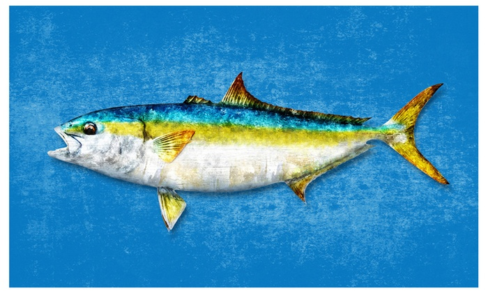 Yellowtail Fish Art Canvas Print Picture Frame Home Decor