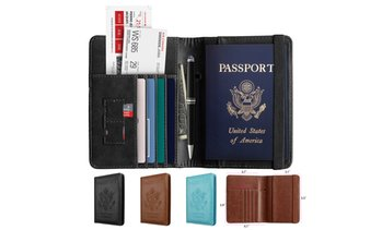 RFID Multi-function Passport Wallet Passport Holder Anti-theft Anti-scanning