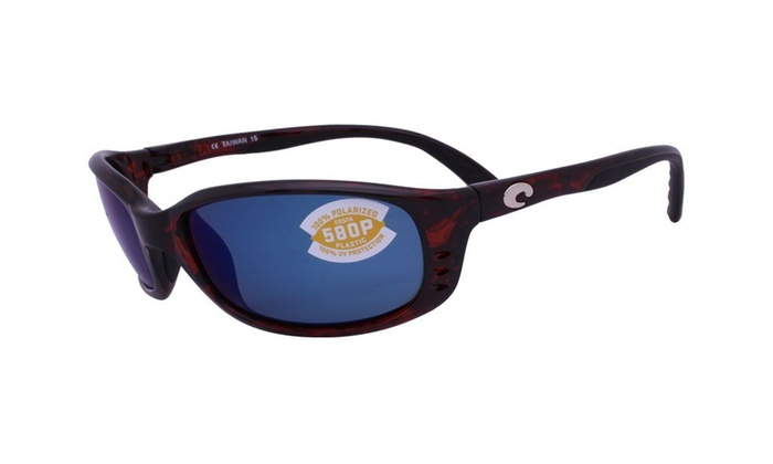 6bd71d20889d2 Costa Del Mar Sunglasses Brine BR 10 OBMP Tortoise   Blue Mirror 580P  Polarized