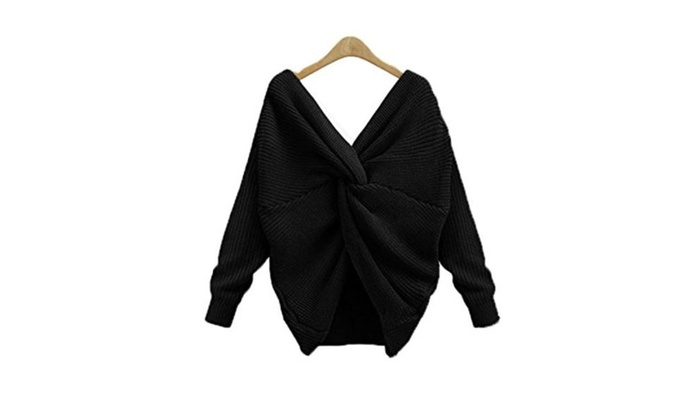 Women Casual Long Sleeve Loose Pullover Knit Sweater Top