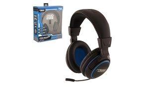 Wired Professional Headset W/ Microphone For Playstation 4 Black Large