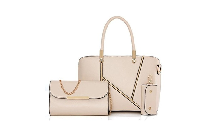 Pu Leather Handbag Set Top-Han...