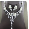 Silver Color Rhinestone Imitation Pearl Jewelry Set for Women