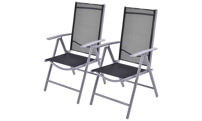 Adjustable Reclining Patio Folding Chairs (2 Pack) ...